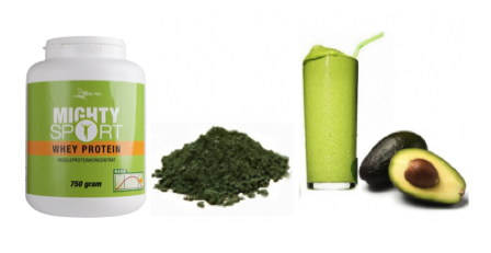 Smoothies med Mighty sport whey protein
