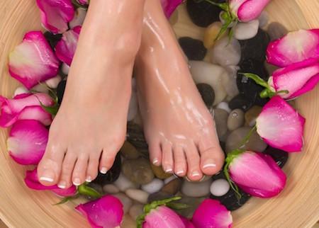 Fotbad för mjuka fötter