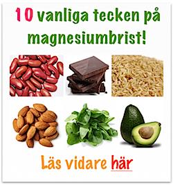 Vanliga tecken på magnesiumbrist