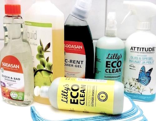 Ekologiska städprodukter